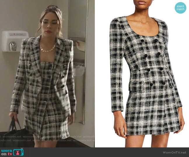 Miller Embellished Tweed Dickey Jacket by Veronica Beard worn by Cristal Jennings (Daniella Alonso) on Dynasty