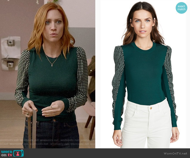 Veronica Beard Adler Sweater worn by Julia Bechley (Brittany Snow) on Almost Family