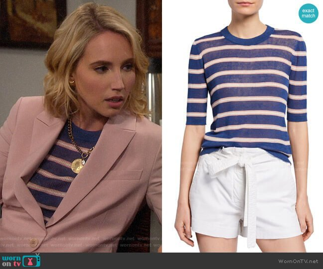 Veronica Beard Dean Sweater worn by Mandy Baxter (Molly McCook) on Last Man Standing
