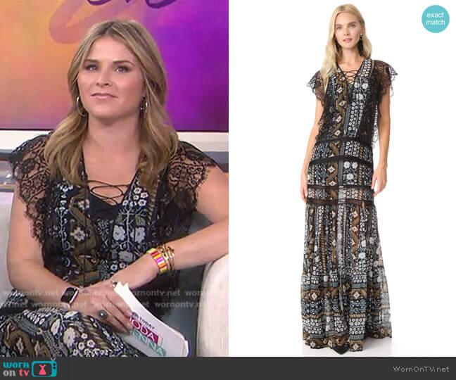 Elly Dress by Veronica Beard worn by Jenna Bush Hager  on Today