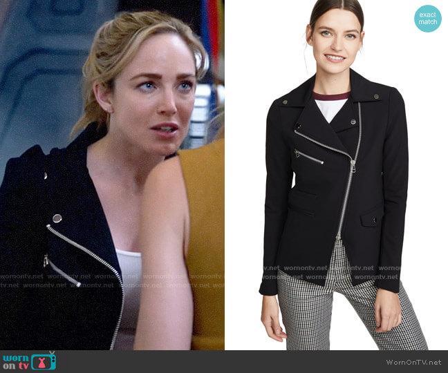 Veronica Beard Scuba Hadley Jacket worn by Sara Lance (Caity Lotz) on Legends of Tomorrow