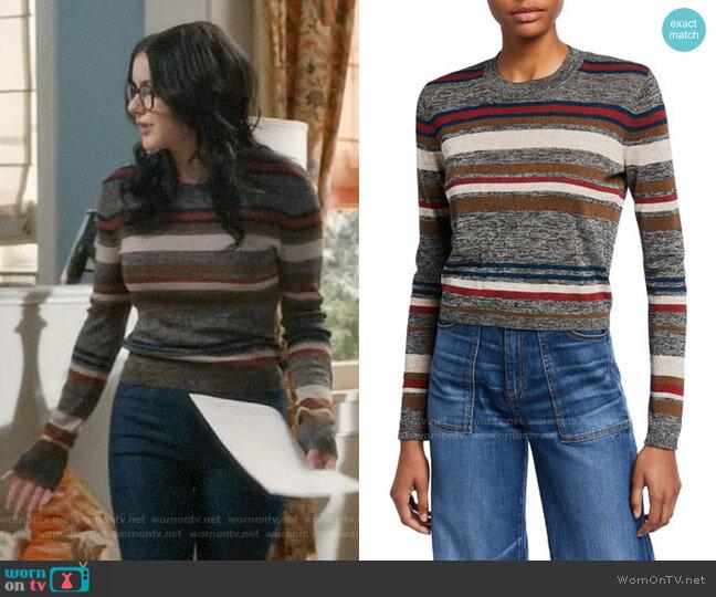 Veronica Beard Jora Striped Sweater worn by Alex Dunphy (Ariel Winter) on Modern Family