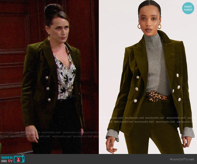 Veronica Beard Lawrence Jacket worn by Quinn Fuller (Rena Sofer) on The Bold & the Beautiful