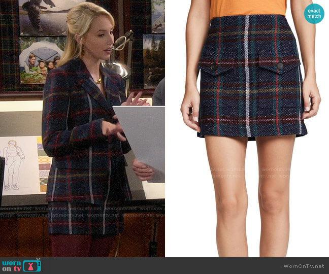 Veronica Beard Lucy Skirt worn by Mandy Baxter (Molly McCook) on Last Man Standing