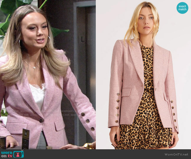 Veronica Beard Steele Jacket worn by Abby Newman (Melissa Ordway) on The Young & the Restless