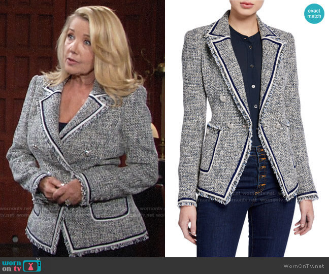 Veronica Beard Theron Jacket worn by Nikki Reed Newman (Melody Thomas-Scott) on The Young & the Restless