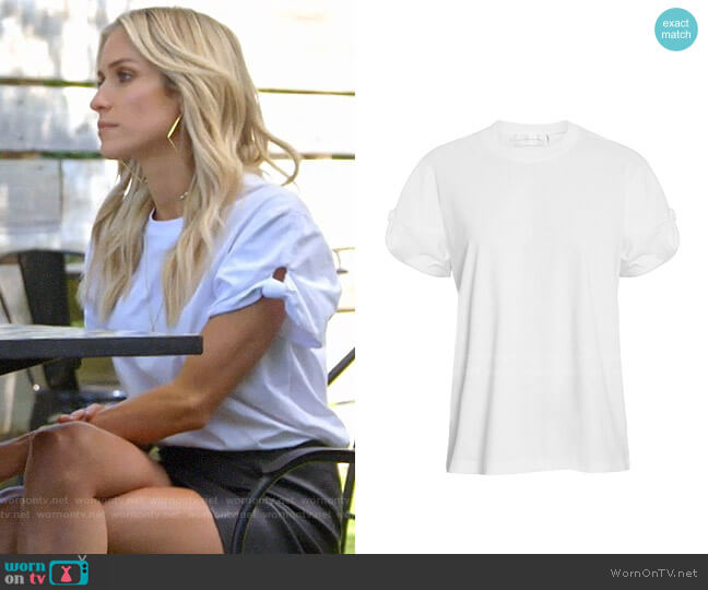 Victoria Beckham Knot Sleeve T-shirt worn by Kristin Cavallari  on Very Cavallari
