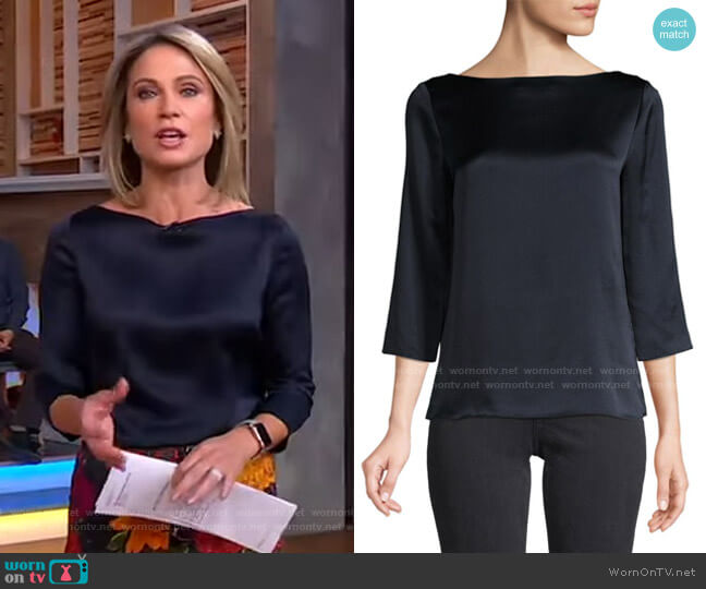 Silk Blouse by Vince worn by Amy Robach  on Good Morning America