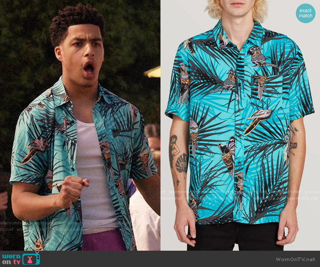 Volcom Party Bird Shirt worn by Andre Johnson Jr (Marcus Scribner) on Blackish