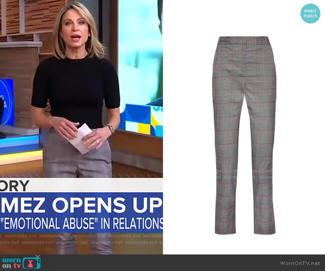 Delpia Cropped Pants by Walter Baker worn by Amy Robach  on Good Morning America