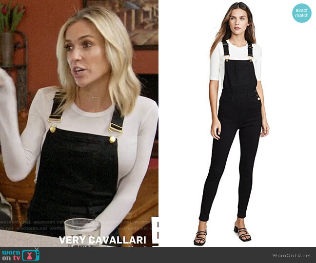 WeWoreWhat High Rise Skinny Overalls worn by Kristin Cavallari  on Very Cavallari