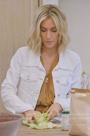 Kristin's white denim jacket on Very Cavallari