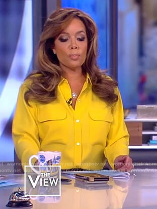 Sunny's yellow pocket blouse on The View