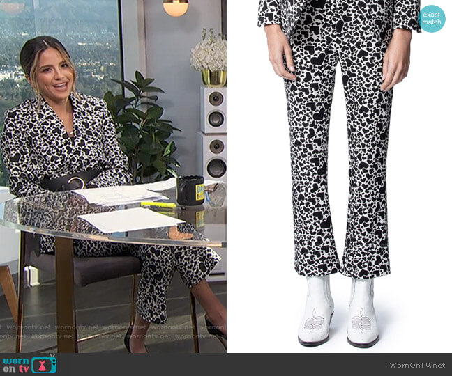 Polis Jac Coeur Heart Print Trousers by Zadig & Voltaire worn by Erin Lim  on E! News