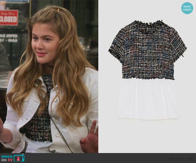 Tweed Top by Zara worn by Gwenny (Kerri Medders) on Alexa & Katie