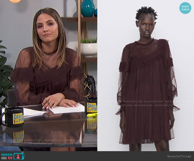 Ruffle Tulle Dress by Zara worn by Erin Lim  on E! News
