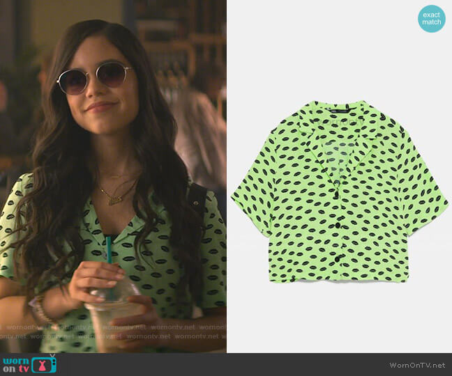 Print Shirt by Zara worn by Ellie (Jenna Ortega) on You