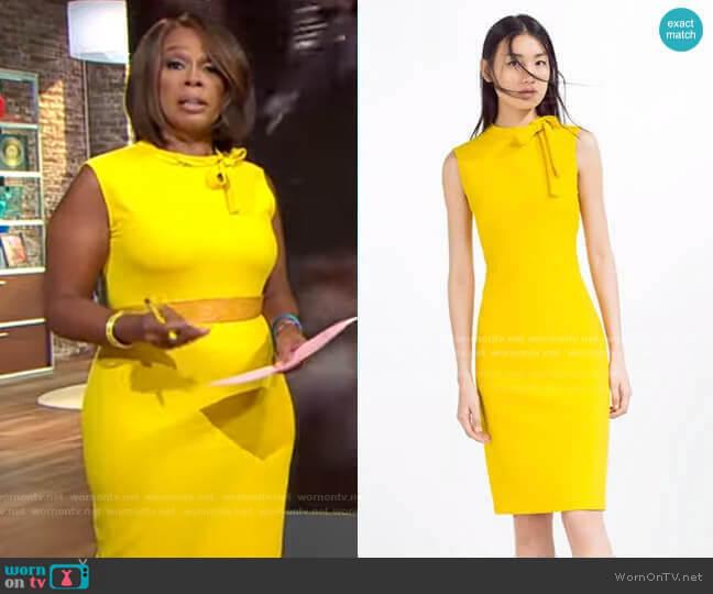 Zara Tube Dress worn by Gayle King  on CBS Mornings