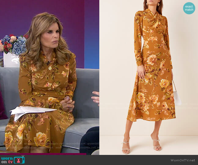 Resistance Floral-Print Silk Dress by Zimmermann worn by Maria Shriver  on Today