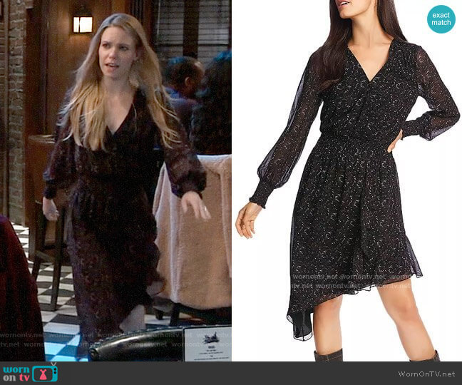 1.State Printed Asymmetric-Hem Dress worn by Nelle Benson (Chloe Lanier) on General Hospital