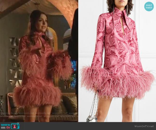Michelle Mini Dress by  16 Arlington worn by Fallon Carrington (Elizabeth Gillies) on Dynasty
