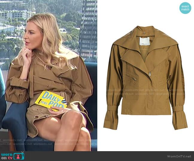 Detachable Collar Safari Jacket by 3.1 Phillip Lim worn by Morgan Stewart  on E! News