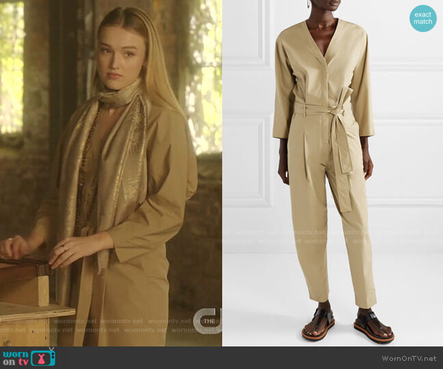 Belted Poplin Jumpsuit by 3.1 Phillip Lim worn by Kirby Anders (Maddison Brown) on Dynasty