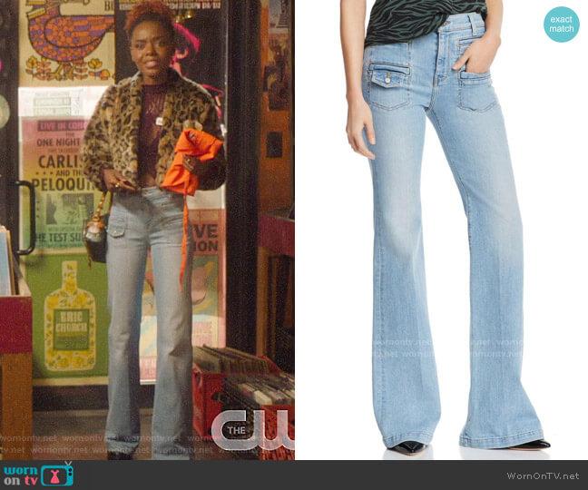 7 For All Mankind Georgia Jeans worn by Josie McCoy (Ashleigh Murray) on Katy Keene