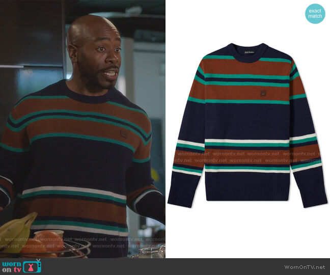 Nimah Stripe Face Knit by Acne Studios worn by Stephen Conrad Moore on The Bold Type