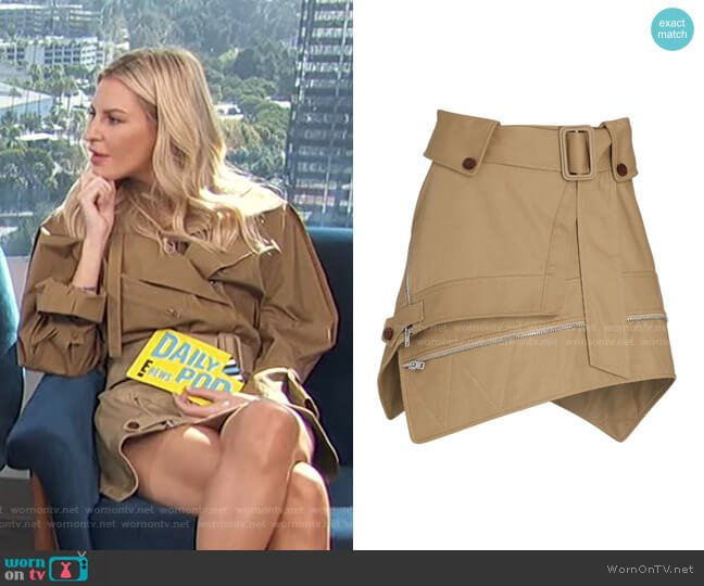 Deconstructed Trench Mini Skirt by Alexander Wang worn by Morgan Stewart  on E! News