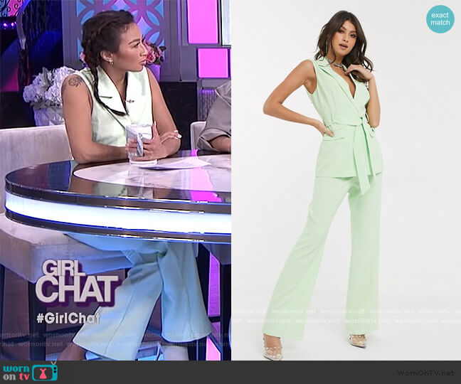 Tailored Pants by 4th and Reckless at ASOS worn by Jeannie Mai  on The Real