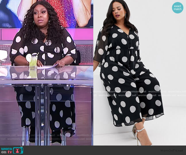 Button Front Open Back Jumpsuit by ASOS worn by Loni Love  on The Real