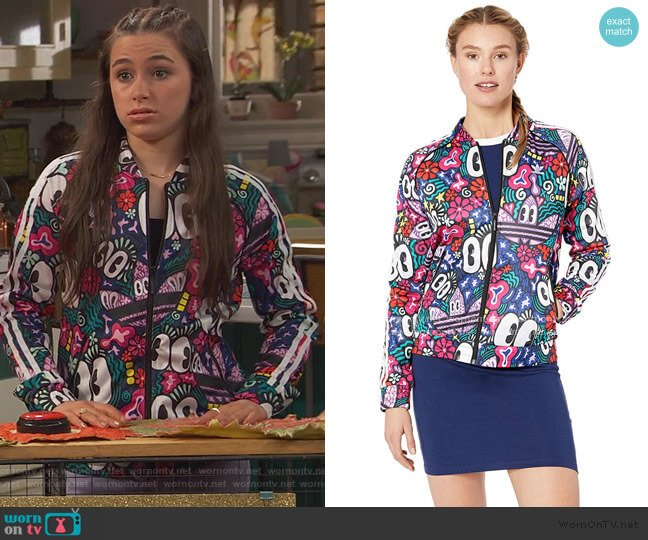 Super Star Track Jacket by Adidas worn by Tess O'Malley (Sky Katz) on Ravens Home