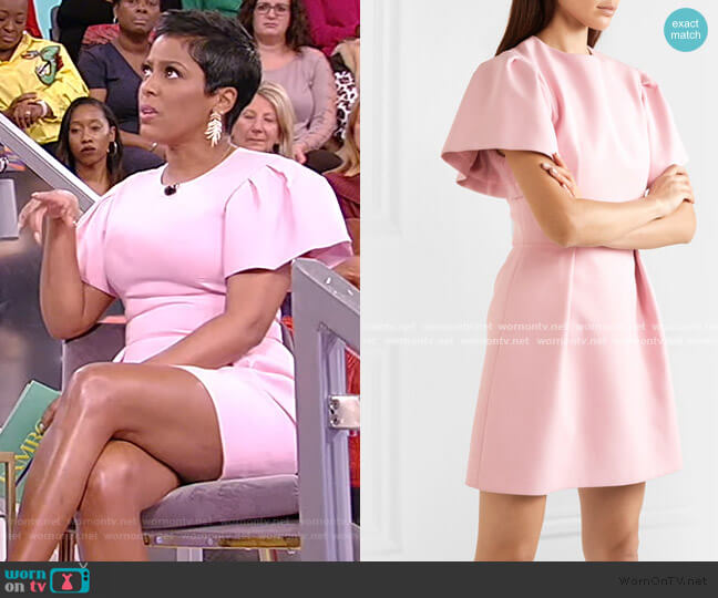 Wool-blend Crepe Mini Dress by Alexander McQueen worn by Tamron Hall  on Tamron Hall Show
