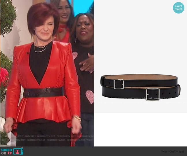 Double Belt by Alexander McQueen worn by Sharon Osbourne  on The Talk