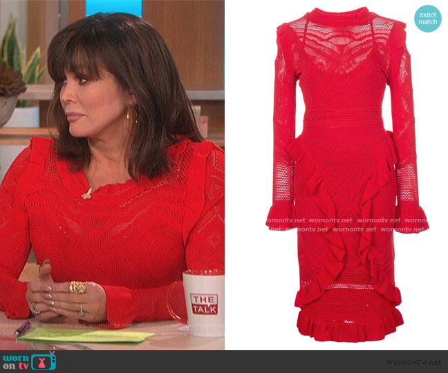 Sivan Crochet Midi Dress by Alexis worn by Marie Osmond  on The Talk