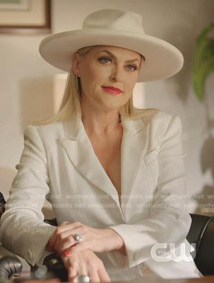 Alexis's white sequin blazer on Dynasty