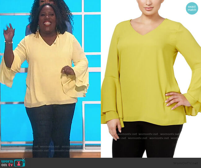 Chiffon Top by Alfani worn by Sheryl Underwood  on The Talk