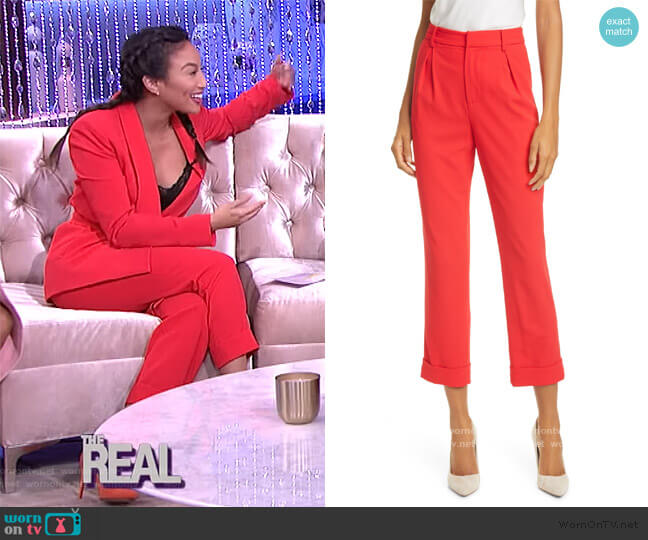 Ardell High Waist Crop Pants by Alice + Olivia worn by Jeannie Mai  on The Real
