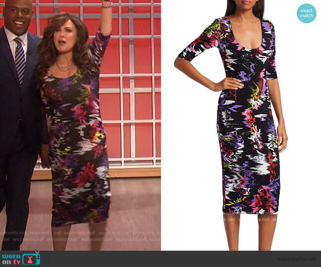 Delora Abstract Print Bodycon Dress by Alice + Olivia worn by Marie Osmond  on The Talk