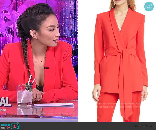 Denny Belted Blazer by Alice + Olivia worn by Jeannie Mai  on The Real
