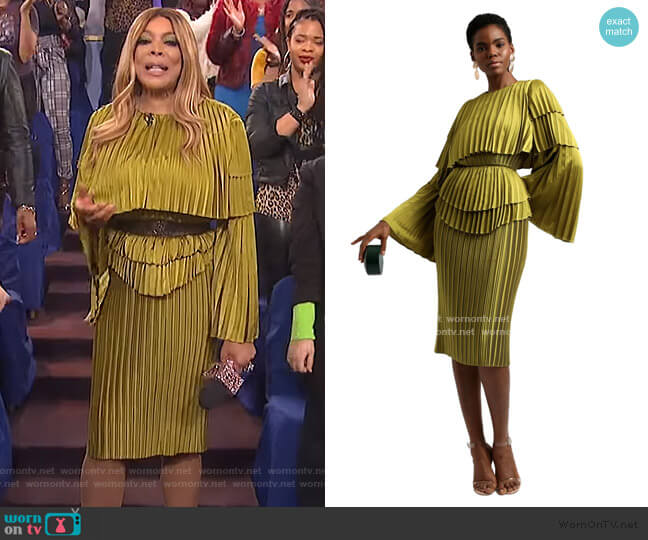 Raffe Dress by Andrea Iyamah worn by Wendy Williams  on The Wendy Williams Show