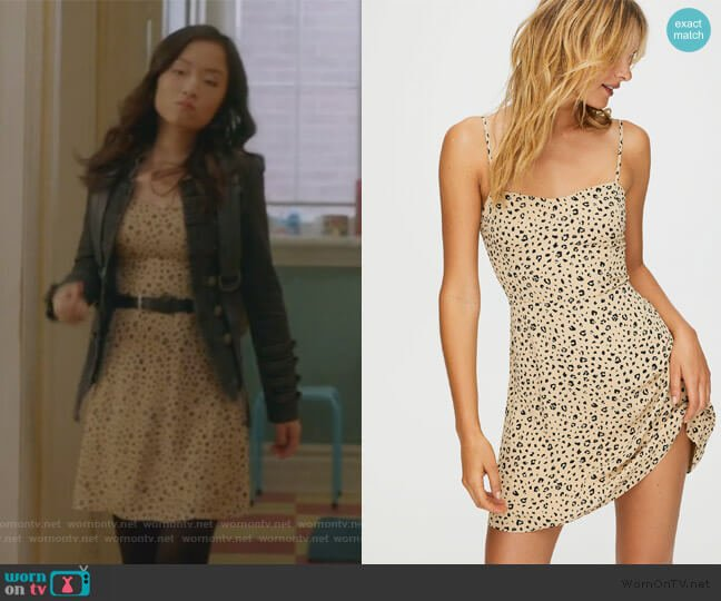 Flirt Mini Dress by Sunday Best at Aritzia worn by Janet (Andrea Bang) on Kims Convenience