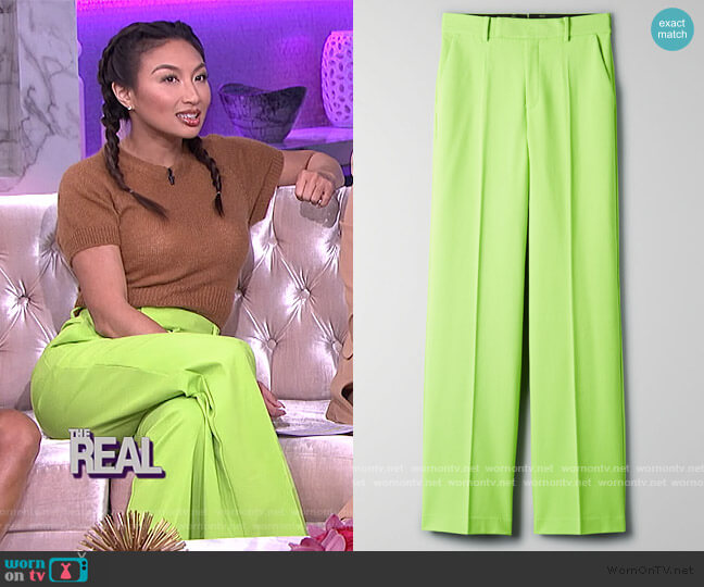 Agency Pants by Aritzia worn by Jeannie Mai  on The Real