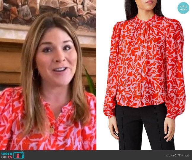 Ashlynn blouse by Veronica Beard worn by Jenna Bush Hager  on Today