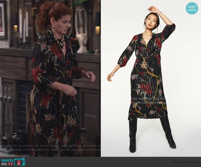Patty Dress by Ba&sh worn by Grace Adler (Debra Messing) on Will & Grace