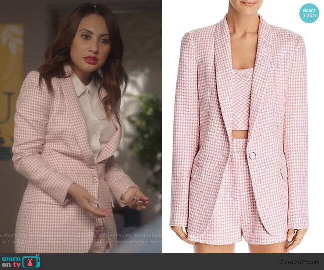 Check You Later Blazer and Shorts by Bec & Bridge worn by Ana Torres (Francia Raisa) on Grown-ish