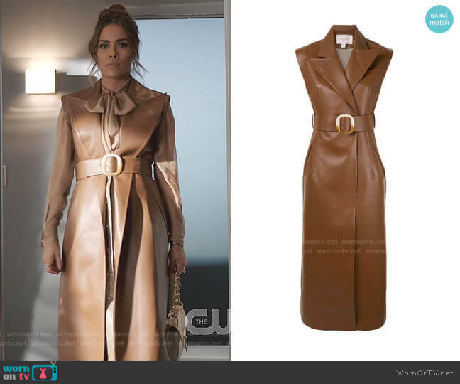 Belted Longline Vest by Materiel worn by Cristal Jennings (Daniella Alonso) on Dynasty