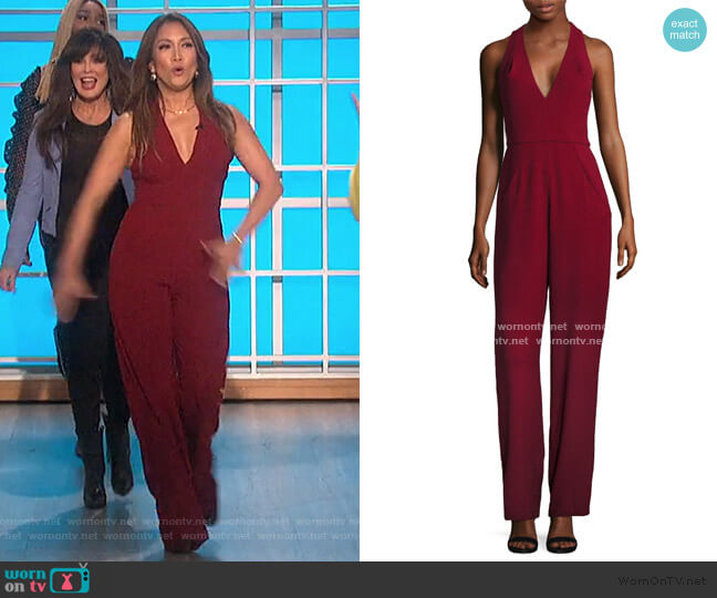 Jordan V-Neck Jumpsuit by Black Halo worn by Carrie Inaba  on The Talk