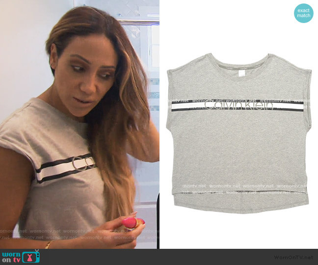 Tee by Calvin Klein worn by Melissa Gorga  on The Real Housewives of New Jersey